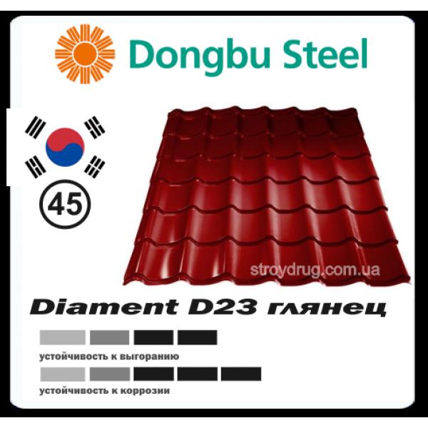 Металлочерепица Diament D23 глянцевая 045